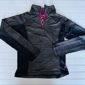 EUC • Reebok 1/4 Pullover   Girls Large (12)